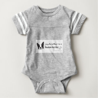 boston terrier brother baby bodysuit