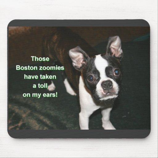 Boston Terrier: btzoomies Mousepad