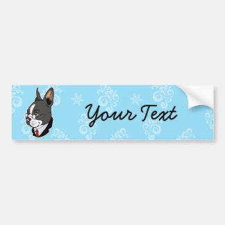 Boston Terrier Bumper sticker Car Bumper Sticker