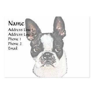 Boston Terrier Large Business Cards (Pack Of 100)