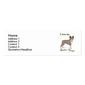 Boston Terrier Double-Sided Mini Business Cards (Pack Of 20)