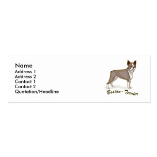 Boston Terrier Business Card Template