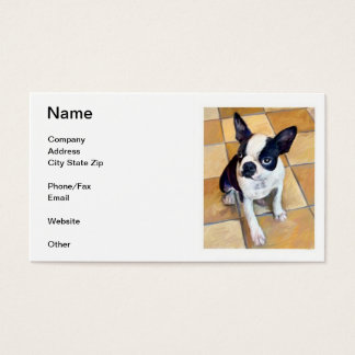 Boston Terrier Business Cards