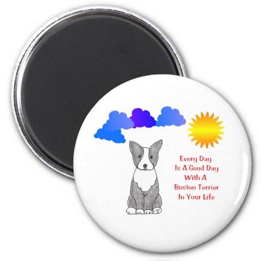 Boston Terrier cada día es un imán del buen día