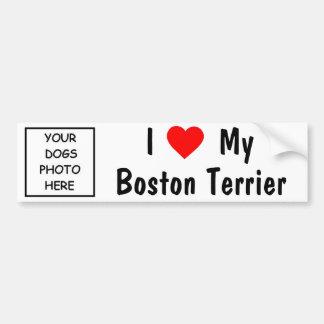 Boston Terrier Etiqueta De Parachoque