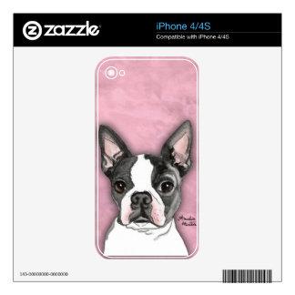 Boston Terrier Calcomanías Para El iPhone 4S