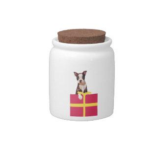 Boston Terrier Candy Jar