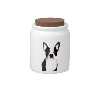 Boston Terrier Candy Jars