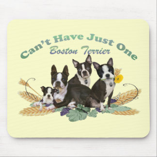 Boston Terrier Can't Have Just One Gifts Mouse Pad
