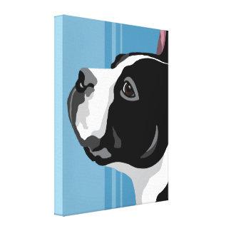 Boston Terrier Canvas Art