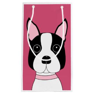 Boston Terrier caprichoso Bolsa De Regalo Pequeña