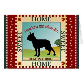 Boston Terrier Card