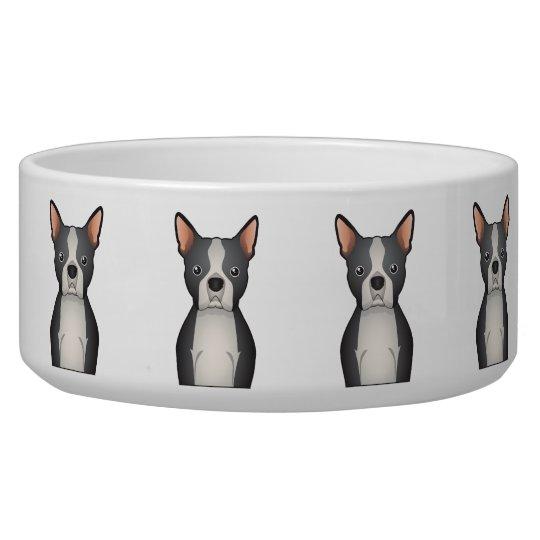 Boston Terrier Cartoon Bowl