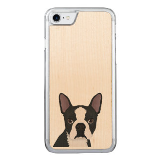 boston terrier cartoon carved iPhone 7 case