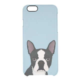 boston terrier cartoon clear iPhone 6/6S case
