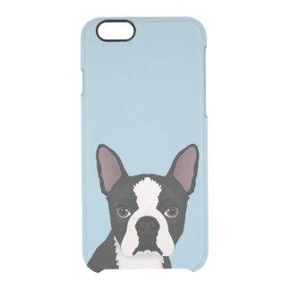boston terrier cartoon clear iPhone 6/6S case