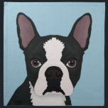 "boston terrier cartoon cloth napkin<br><div class=""desc"">cartoon painting of boston terrier awesome small dog</div>"