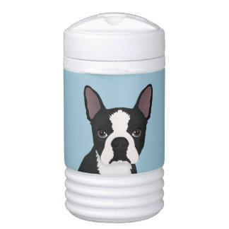boston terrier cartoon cooler