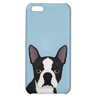 boston terrier cartoon cover for iPhone 5C