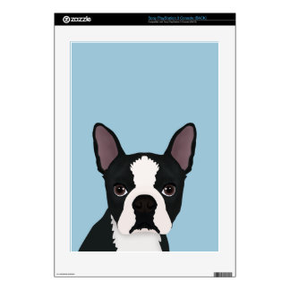 boston terrier cartoon decals for PS3 console