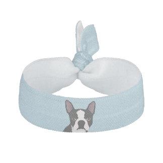 boston terrier cartoon elastic hair tie