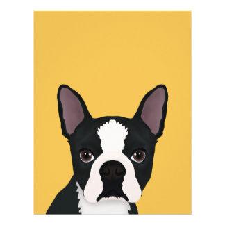"boston terrier cartoon 8.5"" x 11"" flyer"