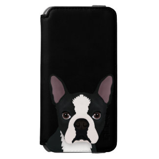 boston terrier cartoon iPhone 6/6s wallet case