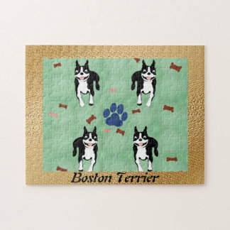 Boston Terrier Cartoon Jigsaw Puzzle