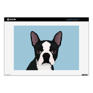boston terrier cartoon laptop decal