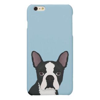 boston terrier cartoon matte iPhone 6 plus case