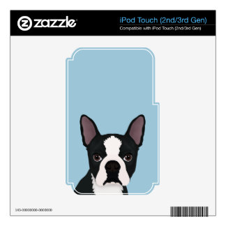 boston terrier cartoon decals for iPod touch 3G