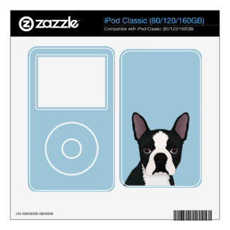 boston terrier cartoon decal for iPod