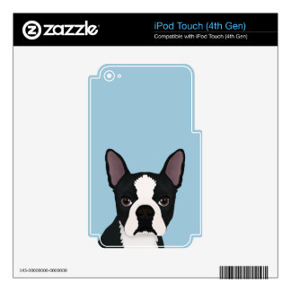 boston terrier cartoon skin for iPod touch 4G