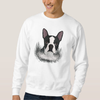 boston terrier cartoon sweatshirt