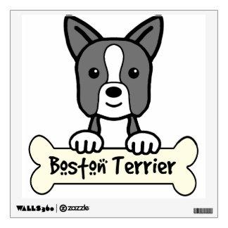 Boston Terrier Cartoon Wall Sticker