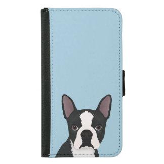 boston terrier cartoon wallet phone case for samsung galaxy s5