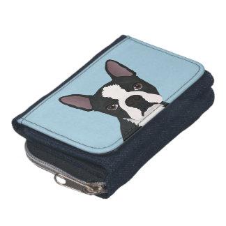 boston terrier cartoon wallets