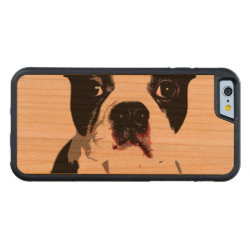 Carved ® iPhone 6 Bumper Wood Case with Boston Terrier Phone Cases design