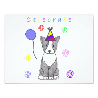 Boston Terrier Celebrate Card