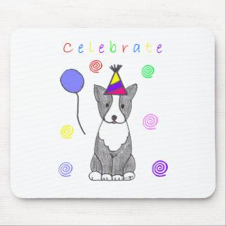 Boston Terrier Celebrate Mouse Pad