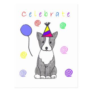 Boston Terrier Celebrate Postcard