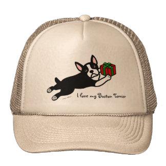 Boston Terrier Christmas 2 Cartoon Trucker Hat