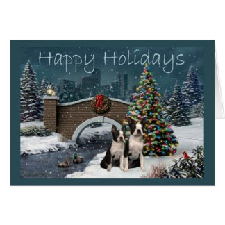 Boston Terrier Holiday Cards - Invitations, Greeting & Photo Cards ...