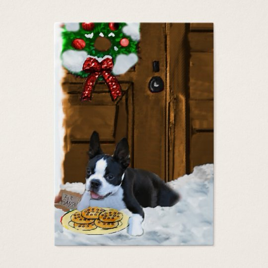 Boston Terrier Christmas Gifts Business Card