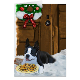 Boston Terrier Christmas Gifts Cards