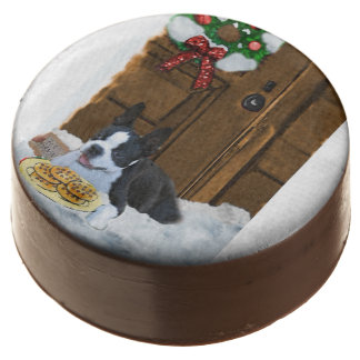 Boston Terrier Christmas Gifts Chocolate Covered Oreo