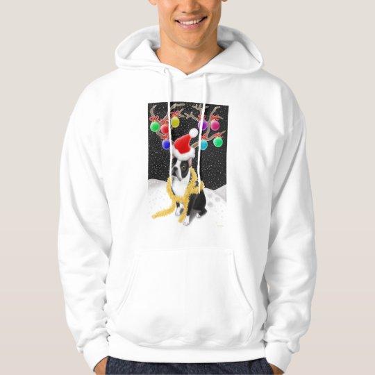 Boston Terrier Christmas Hooded Sweatshirt