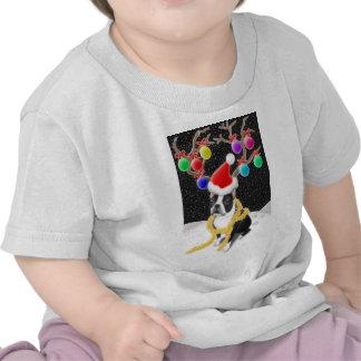 Boston Terrier Christmas Infant T-Shirt