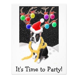 Boston Terrier Christmas Invite