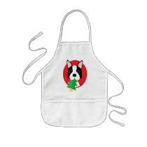 Boston Terrier Christmas Kids' Apron